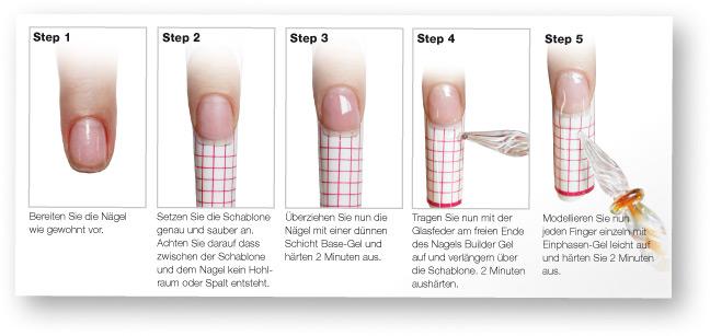 Glasfeder Nageldesign Anleitung Step 1