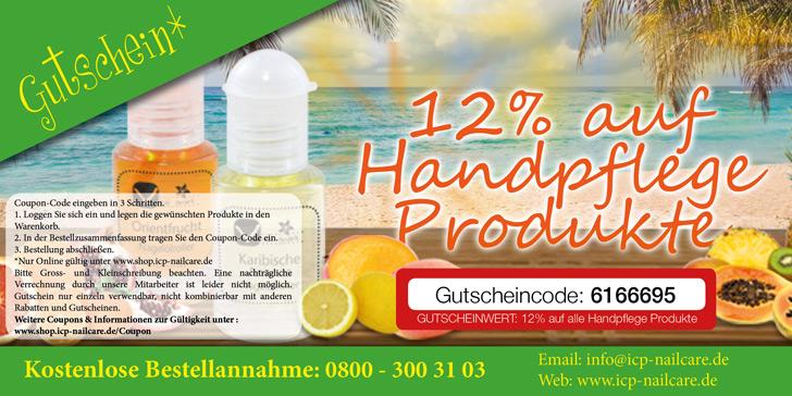 Handpflege Gutschein 12 Prozent Rabatt