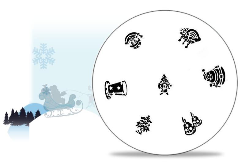 stamping schablone weihnachten motiv 02 4 99. Black Bedroom Furniture Sets. Home Design Ideas