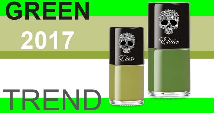 Trendfarbe 2017 Grün Nagellack