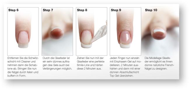Glasfeder Nageldesign Anleitung Step 2