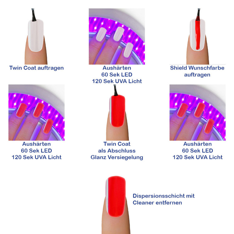 Gel-Lack - Shield Lack - LED & UV-Nagellack Pure-Red 2019