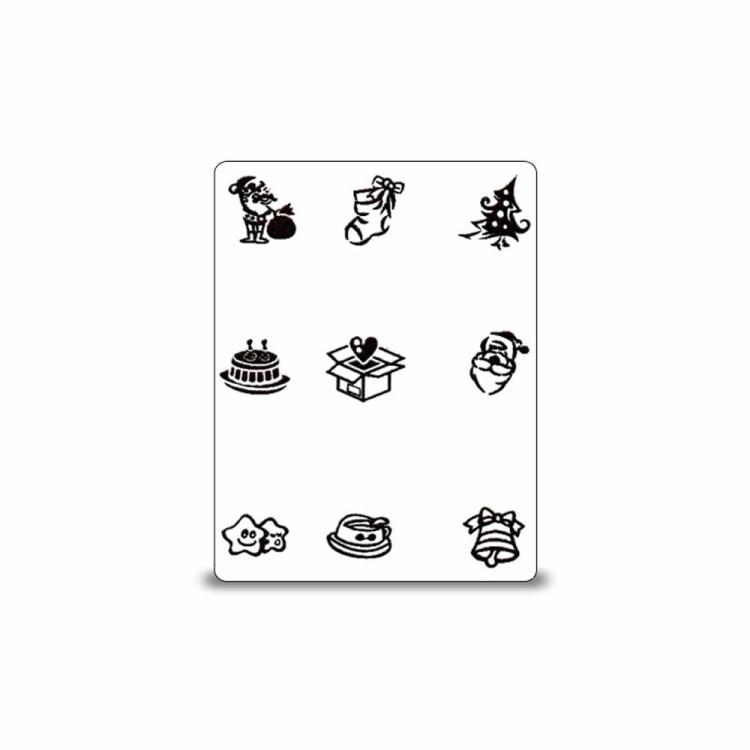 stamping schablone weihnachten motiv 07 1 25. Black Bedroom Furniture Sets. Home Design Ideas