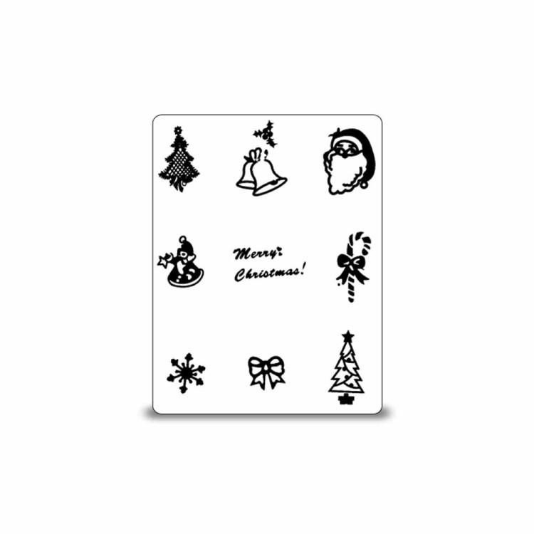 stamping schablone weihnachten motiv 08 1 25. Black Bedroom Furniture Sets. Home Design Ideas