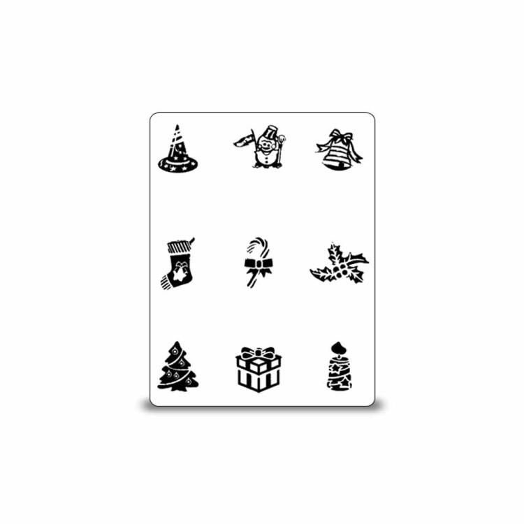 stamping schablone weihnachten motiv 09 1 25. Black Bedroom Furniture Sets. Home Design Ideas