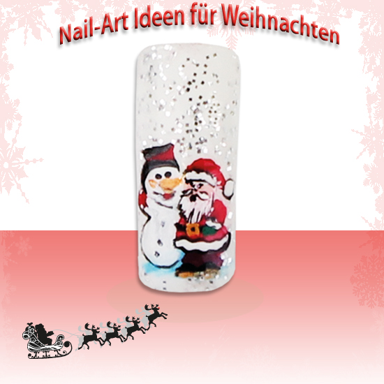 Weihnachtsmann Nailart ICP-Nailcare
